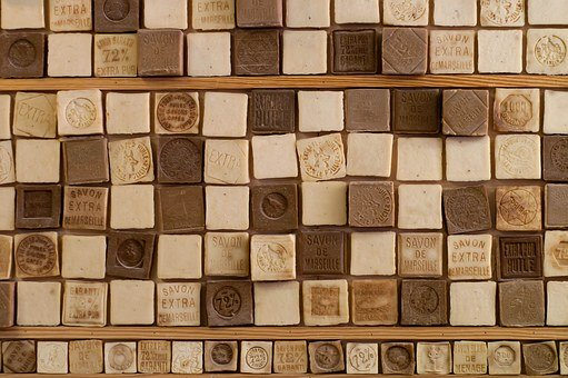 Soap, Handmade, France, Cubes