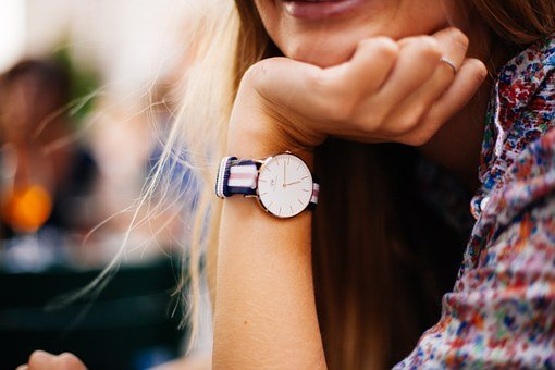 Watch, Timepiece, Woman, Wearing, Wrist