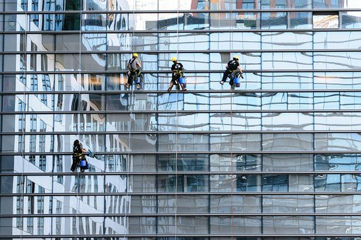 Glass Facade, Window Cleaner, Facade