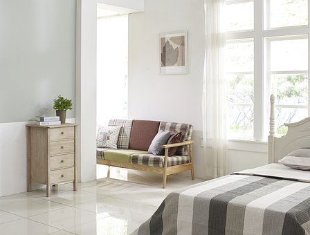 Bedroom, Cupboard, Bed, Room, Sofa
